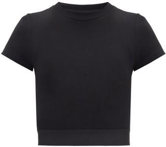 Vaara Finn Cropped Jersey T-shirt - Black