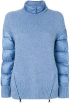 Moncler padded sleeve knitted jumper