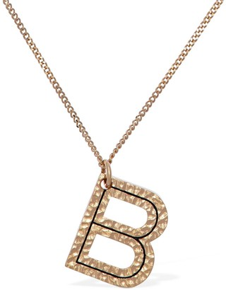 """Burberry Letter """"B"""" Charm Necklace"""