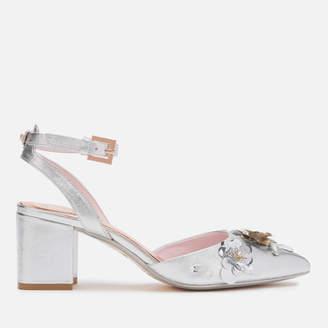 Ted Baker Women's Odesca Floral Embellished Block Heeled Sandals
