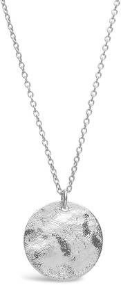 Sterling Forever Sterling Silver Hammered Pendant Necklace