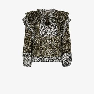 Ulla Johnson Carissa leopard print cotton blouse