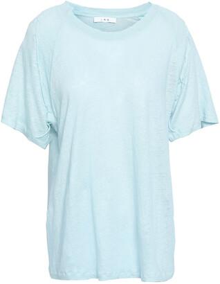 IRO Milna Embroidered Slub Linen-jersey T-shirt