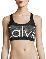 Calvin Klein Mesh Insert Logo Swim Bra Top