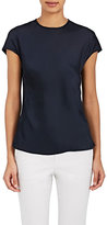 Helmut Lang Women's Satin Cap-Sleeve Blouse
