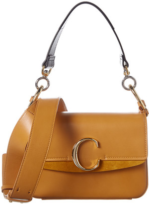 Chloé C Small Leather & Suede Shoulder Bag