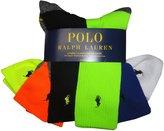 Polo Ralph Lauren Men's Classic Cotton Sport Athletic Socks Multi (pack of 6)