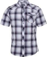 Firetrap Mens Melker Short Sleeve Check Shirt White/Navy Check