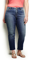 Classic Women's Plus Size Slim Leg Crop Jeans-Deep Sea Indigo