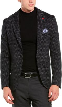 Ron Tomson Knit Textured Fitted Blazer