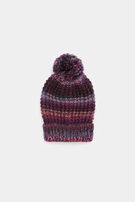 Ardene Color Block Knit Pompom Beanie