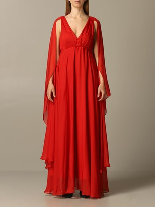 Pinko Long Tati 1 Chiffon Dress