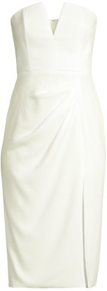 Jay Godfrey Kyle Strapless Midi Dress