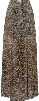 Alice + Olivia Athena Printed Silk-blend Lame Maxi Skirt
