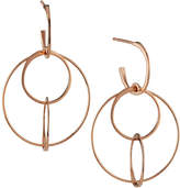 Lana Small Wire Bond Hoop Earrings in 14k Rose Gold