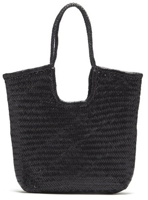 DRAGON DIFFUSION Triple Jump Woven-leather Basket Bag - Black