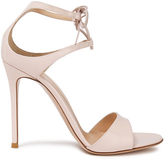 Gianvito Rossi Lace-up Patent-leather Sandals
