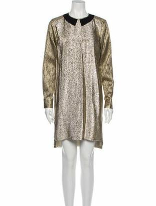 Stella McCartney 2012 Knee-Length Dress Gold
