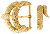 David Webb His Snake Belt Buckle Set