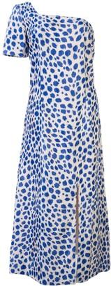 Maryam Nassir Zadeh Leopard Pattern Midi Dress
