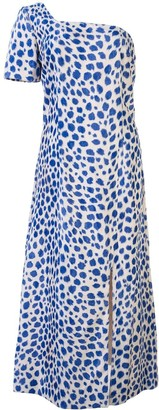 Maryam Nassir Zadeh leopard pattern midi dress