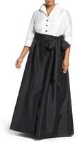 Adrianna Papell 2-Piece Taffeta Ballgown (Plus Size)