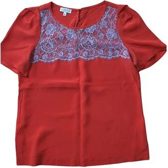 Claudie Pierlot Red Silk Top for Women
