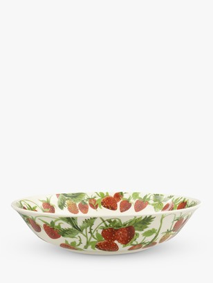 Emma Bridgewater Strawberry Serving Bowl, 28.2cm, White/Red