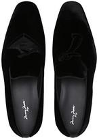 Massimo Matteo Boogie Down Velvet Loafer (Black Velvet) Men's Shoes