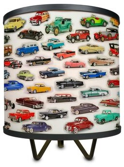 "Latitude Run Screven Car Collage 10.75"" Table Lamp"