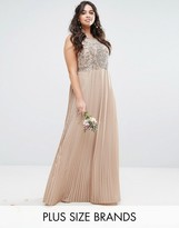 Lovedrobe Luxe Embellished Bodice Maxi Dress With Pleated Skirt