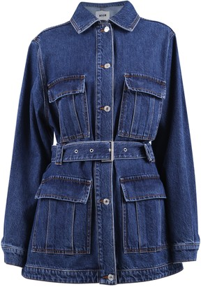 MSGM Belted Denim Jacket