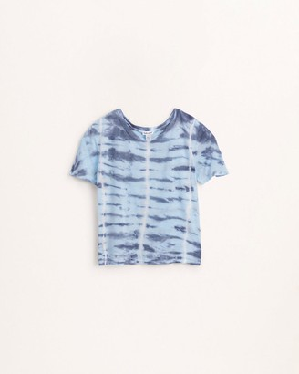 Splendid Girls Overlap Tie Dye Top
