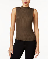 Bar III Sleeveless Mock-Neck Sweater, Only at Macy's