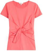 Paule Ka Belted Cotton T-Shirt