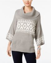 Style&Co. Style & Co Fair Isle Cowl-Neck Sweater, Only at Macy's