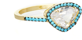 Bliss Teal & Gold Diamond-Shaped Ring