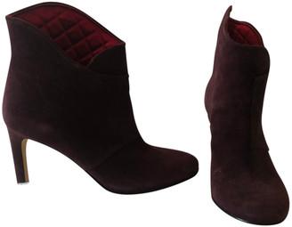Belle Sigerson Morrison Burgundy Velvet Ankle boots