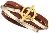 Gorjana Double-Strand Leather Wrap Bracelet