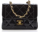 Chanel Black Patent Leather Vintage Mini Flap