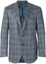 Canali checked blazer - men - Silk/Linen/Flax/Cupro/Wool - 52