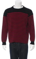 Saint Laurent Striped Crew Neck Sweater