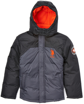U.S. Polo Assn. Charcoal & Black Puffer Coat - Toddler & Boys