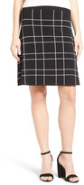 Halogen Windowpane Knit Skirt (Petite)