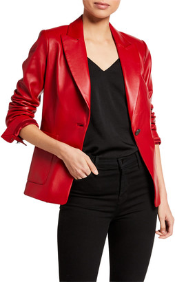 Kobi Halperin Chrissy One-Button Leather Jacket