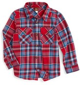 Tea Collection Toddler Boy's Oi Plaid Flannel Shirt