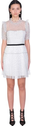 Self-Portrait Dress In White Polyester