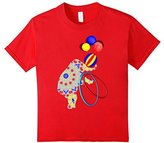 unisex-child Fancy Patterned Circus Elephant Cheerful Graphic T-Shirt