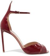 Francesco Russo Patent-leather Sandals - Burgundy