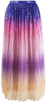 Marco De Vincenzo gathered sequin-embellished skirt
